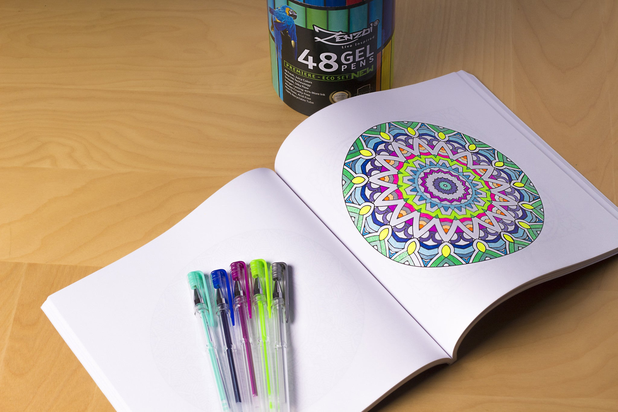 Artist-Quality gel pens for coloring
