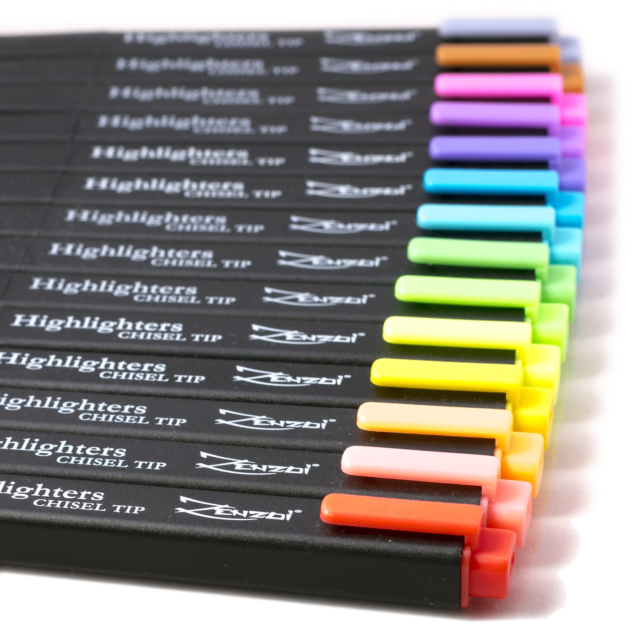 Highlighter markers set Chisel Tip