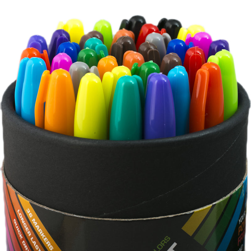 Colored permanent markers set - Drawing Art Markers