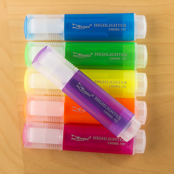 Highlighter Markers Fluorescent Highlighting Marker Set - 13 Beautiful Colors - Chisel Tip