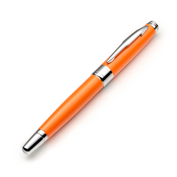 Orange Fountain Pen Set with Schmidt Fine Nib