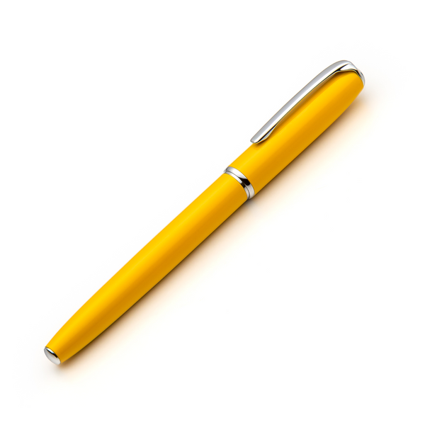 yellow fountain pen