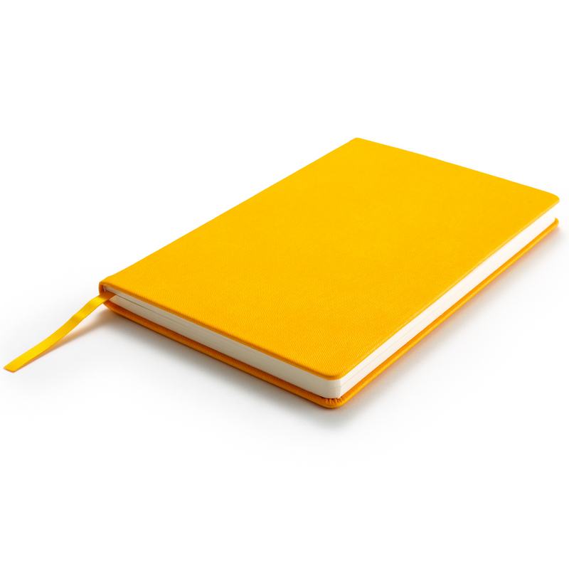 Hardcover Yellow Journal Notebook A5 Size with Gift Box