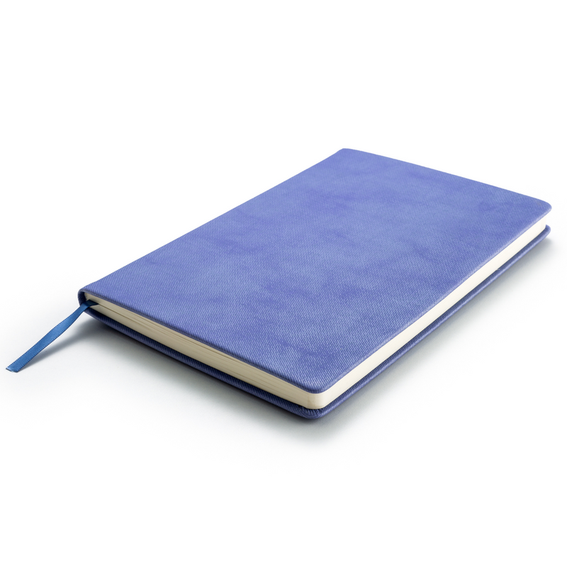 Hardcover Blue Journal Notebook A5 Size with Gift Box