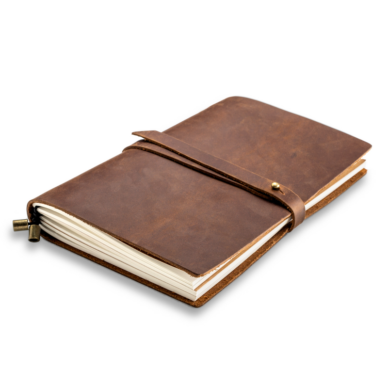 Handmade Genuine Leather Journal Notebook & Refills Paper Inserts - Large