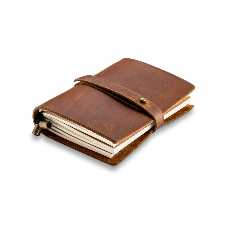 Handmade Genuine Leather Journal Notebook & Refills Paper Inserts - Small