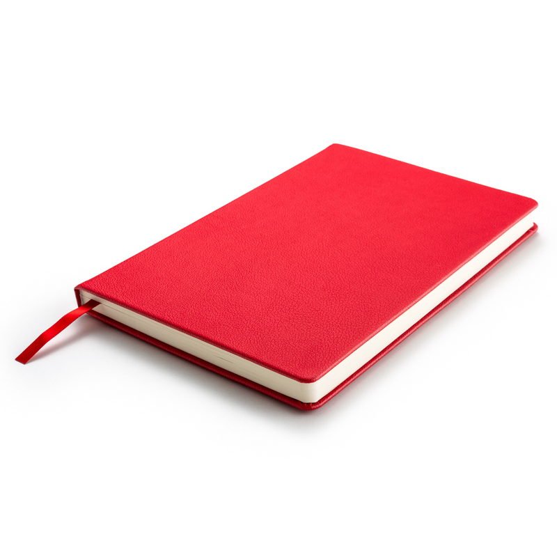 Hardcover Red Journal Notebook A5 Size with Gift Box