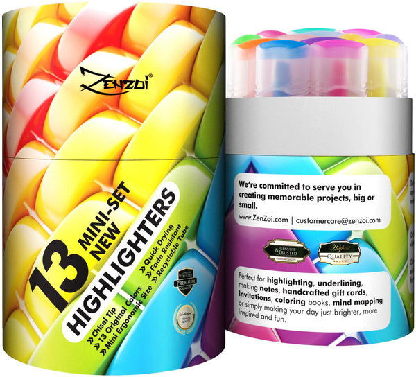 Fluorescent Highlighter Markers set