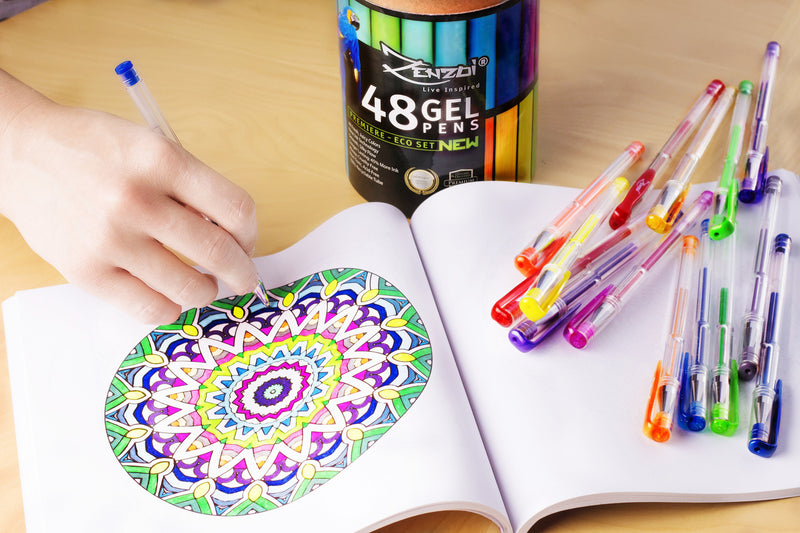Gel Ink Pens Set For Coloring, Sketching, Drawing