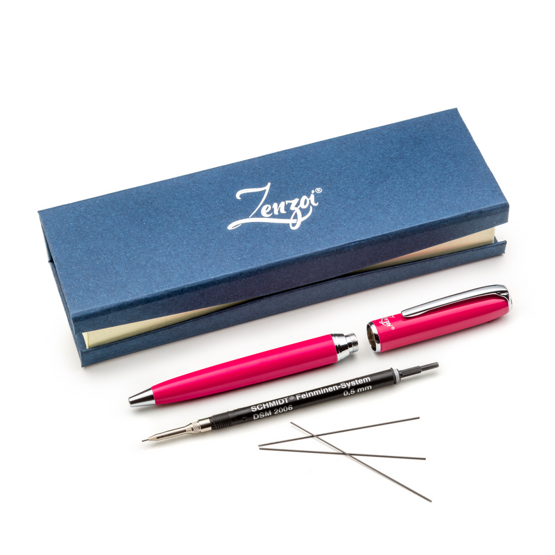 Pink Mechanical Pencil Set with 0.5mm Lead Schmidt System