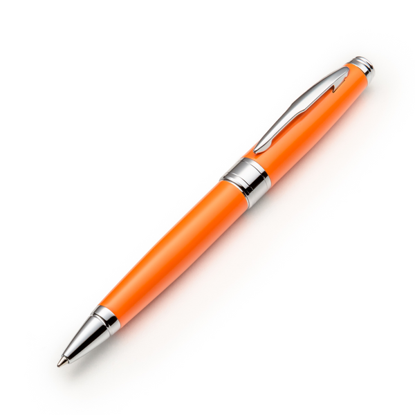 Orange Ballpoint Pen Set with Ink Refills