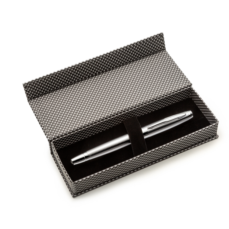 Chrome Fountain Pen Set with Schmidt Fine Nib