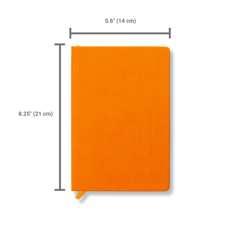 Hardcover Orange Journal Notebook A5 Size with Gift Box