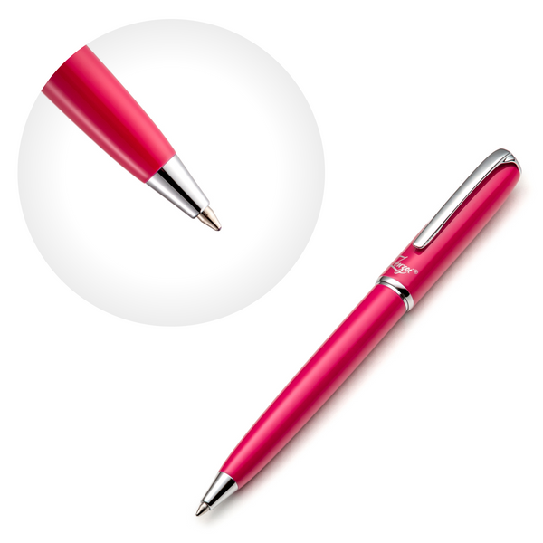 Pink Ballpoint Pen Set with Ink Schmidt Refill