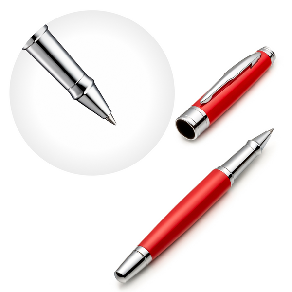 Red Rollerball Pen Set with Schneider Ink Refill