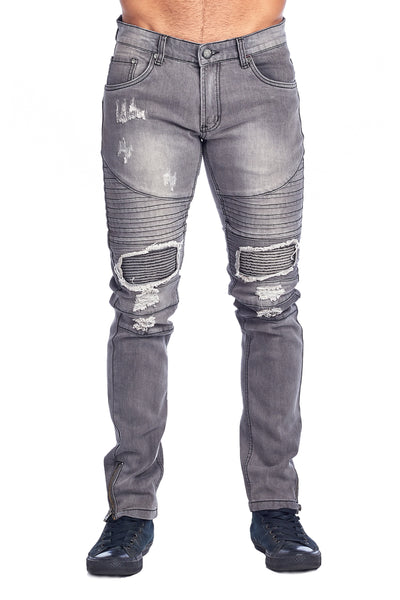 MEN'S GREY RIBBED JEANS | HSZ-7 GREY