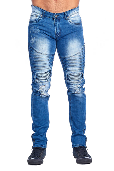 MEN'S LIGHT BLUE RIBBED JEANS | HSZ-7 L.BLUE