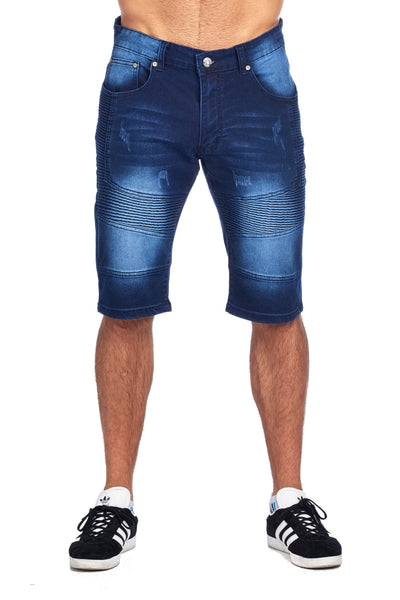 MEN'S DARK BLUE DENIM SHORTS | TD-1 DARK BLUE