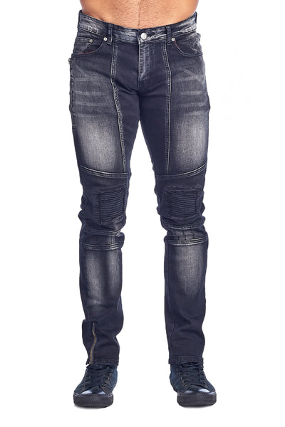 MEN'S CHARCOAL RIBBED JEANS | VF-5-CHARCOAL