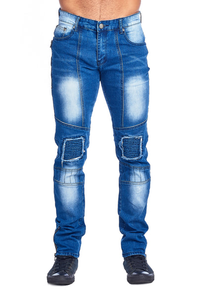 MEN'S LIGHT BLUE RIBBED JEANS | VF-5 L.BLUE