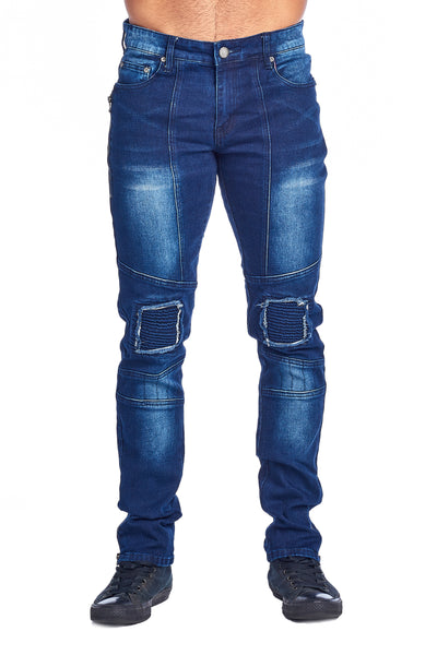 MEN'S MEDIUM BLUE RIBBED JEANS | VF-5-M.BLUE
