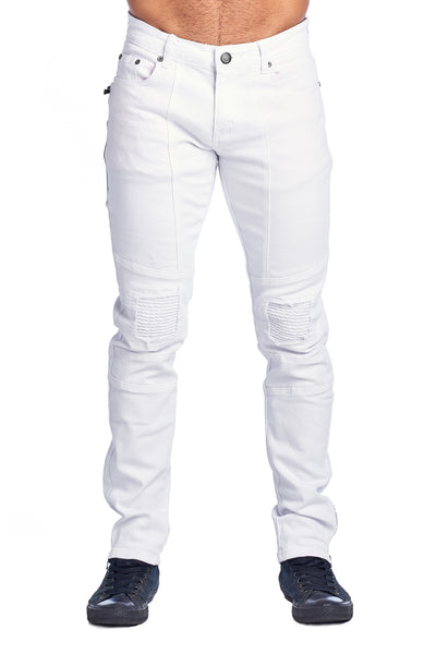 MEN'S WHITE RIBBED JEANS | VF-5-WHITE