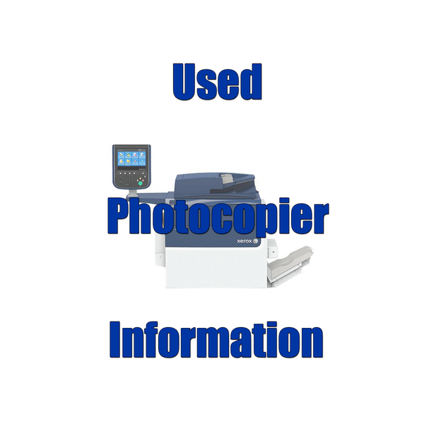 Used Photocopier Information