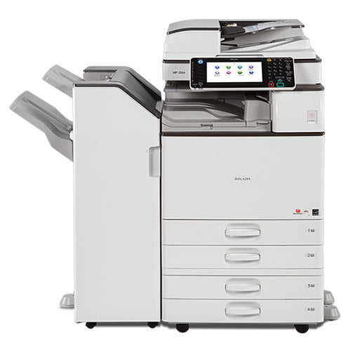 Ricoh MP 2554 Monochrome Multifunction Printer Copier Color Scanner 11x17 A3 Stapler -14k pages Printed