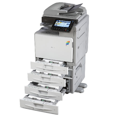 REPOSSESSED Only 29k Pages - Ricoh MP C300SR C300 Colour Copier Printer Scanner with Stapler