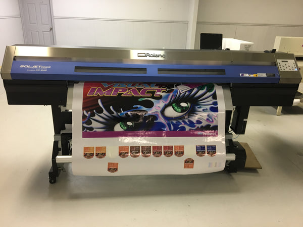 "ROLAND SOLJET Pro III XC-540 54"" Eco-Solvent Inkjet Large Format 12-Colour Printer/Cutter REPOSSESSED"
