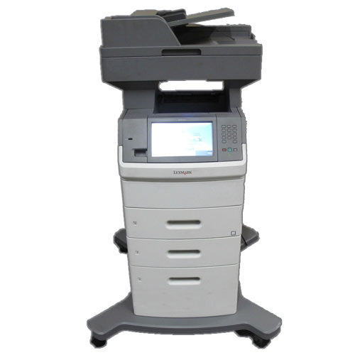 Lexmark XS654de Multifunction Laser Monochrome Printer Copier Color Scanner Fax 112K Pages