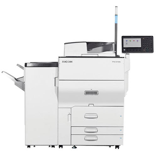 Only $95/Month - Ricoh Pro C5100S C5100 5100 Color Laser Production Printer Copier Scanner Finisher 65PPM