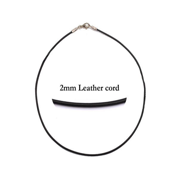 Round leather cord (2 millimeters thick)