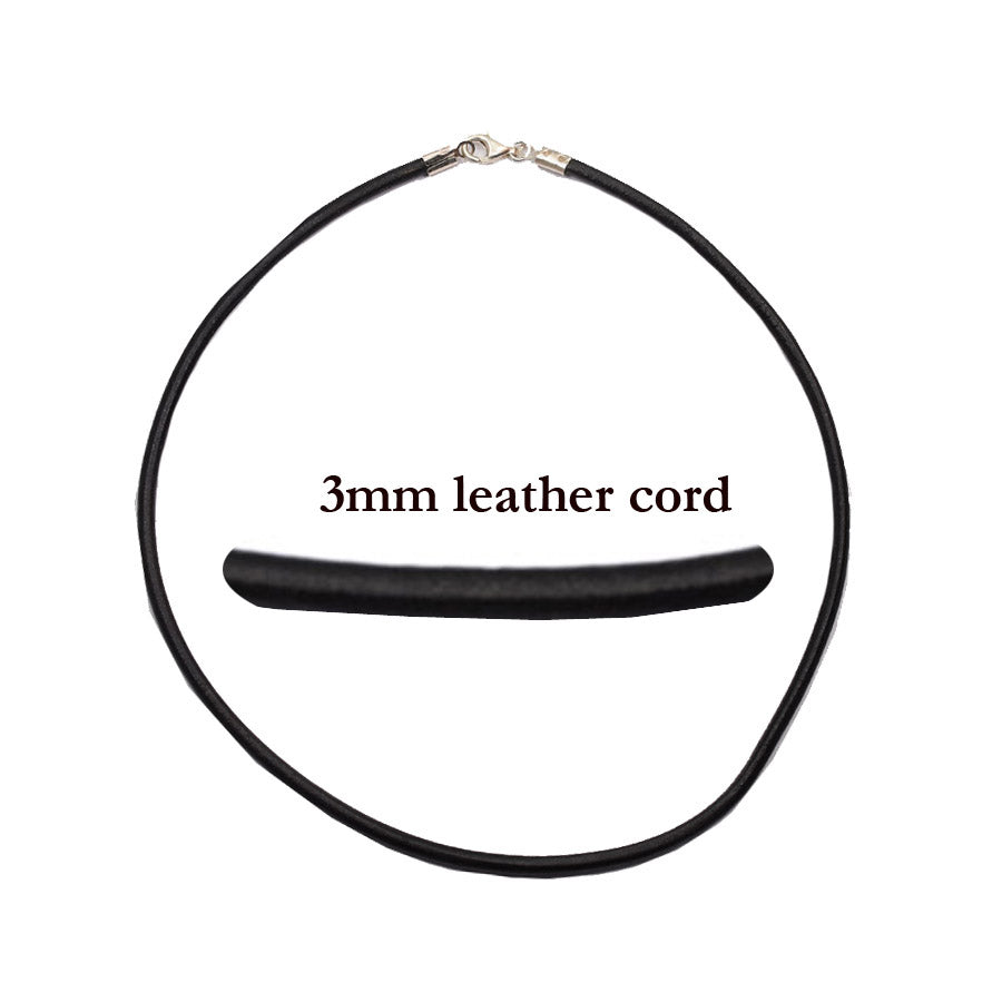Round leather cord (3 millimeters thick)