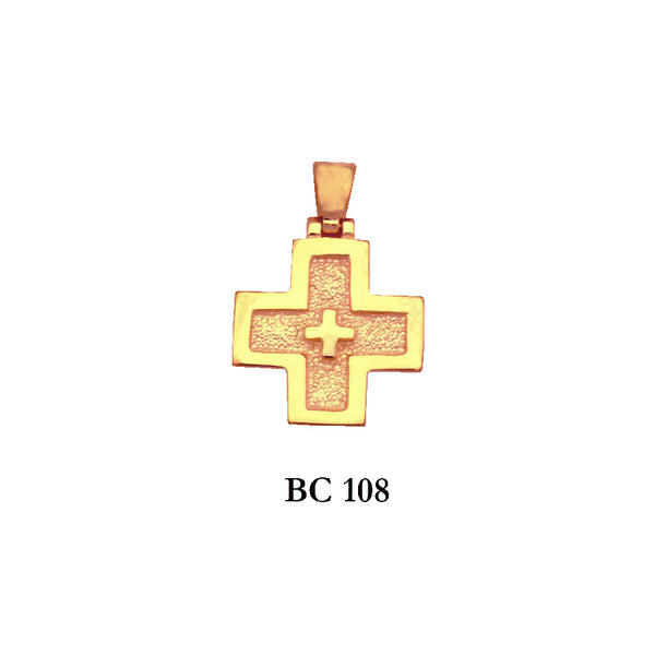 14K byzantine style solid gold exquisite cross