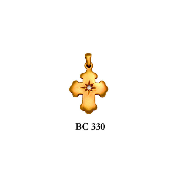 byzantine diamond solid gold cross pendant