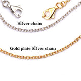 Solid Sterling silver cable (link) chains