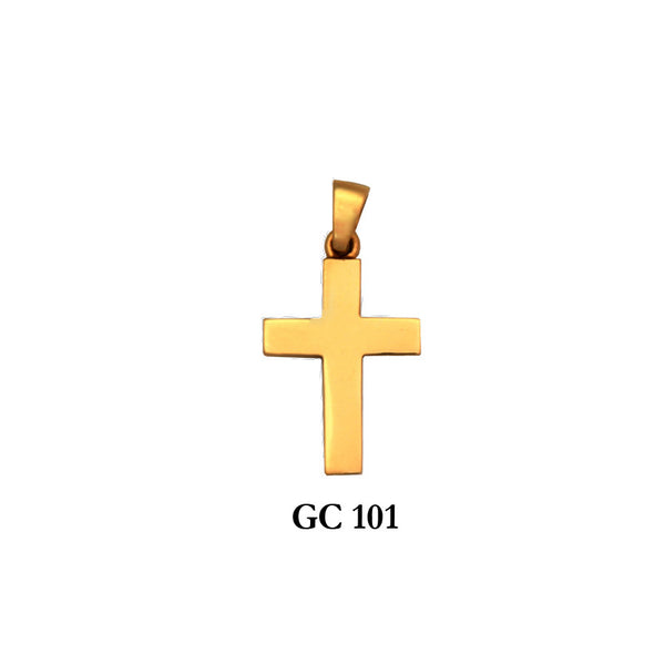 14K Solid gold timeless polished cross pendant