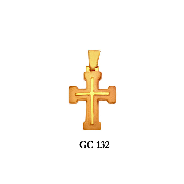 14K Solid gold symmetrical elegant cross pendant