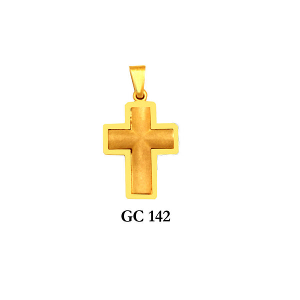 14K Solid gold elegant mens' cross