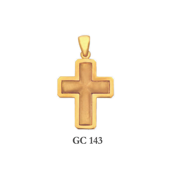 14K Solid gold elegant men's cross pendant