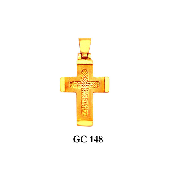 14K Solid gold fascinating cross pendant