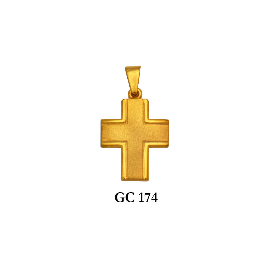 14K Solid gold gracious men's cross pendant
