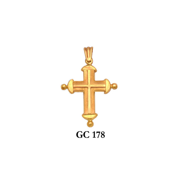 14K Solid gold captivating cross pendant