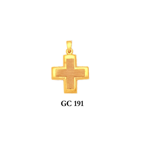 14K Solid gold classic byzantine design cross pendant