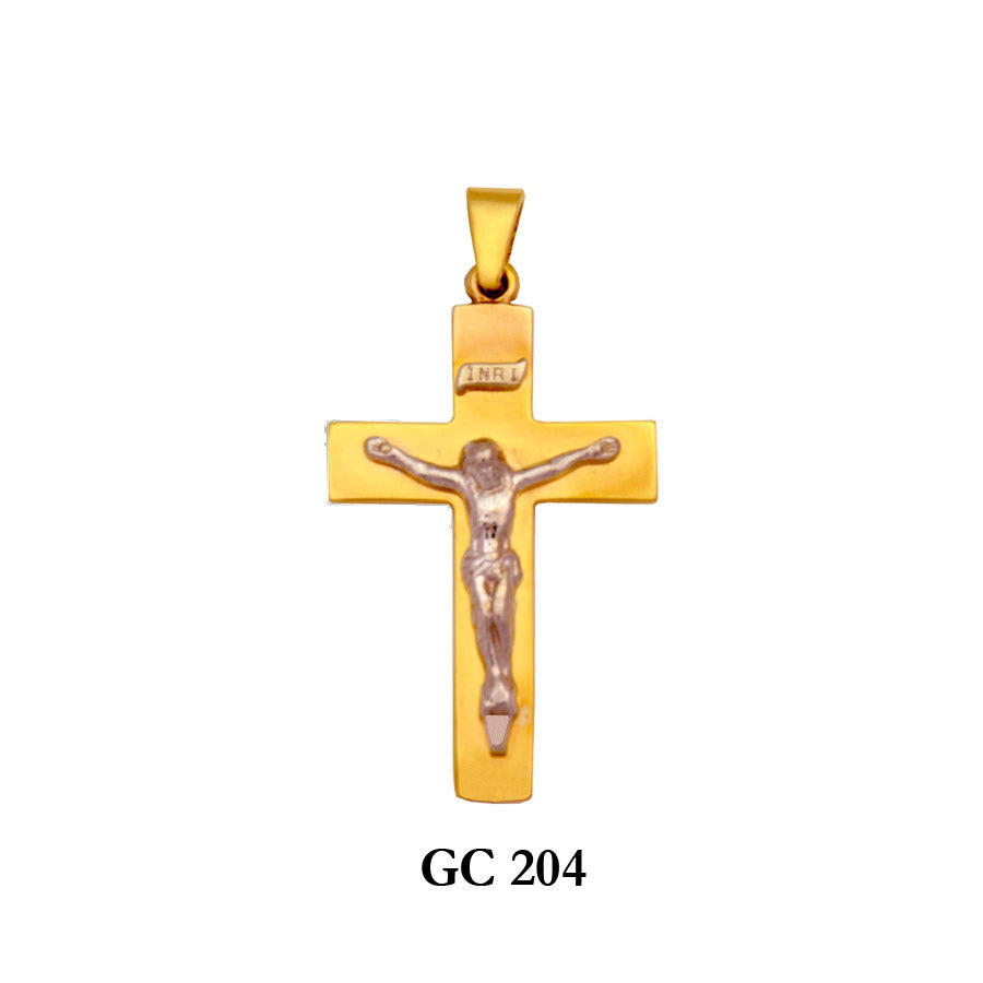 14K Solid gold captivating crucifix cross pendant