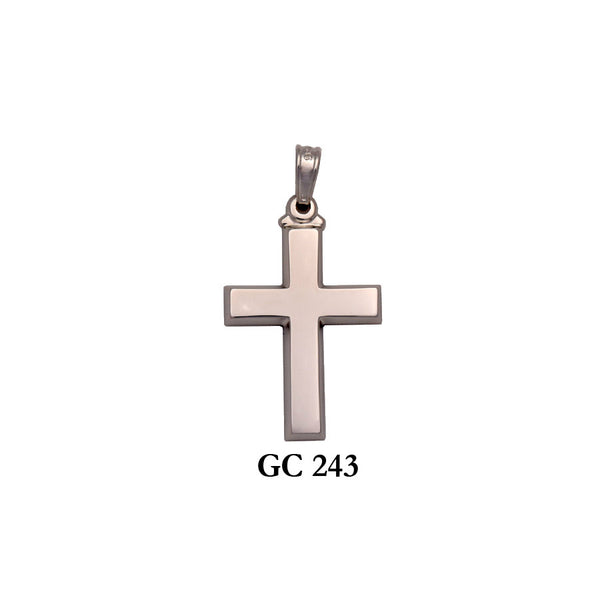 14K Υellow or white gold simple cross pendant