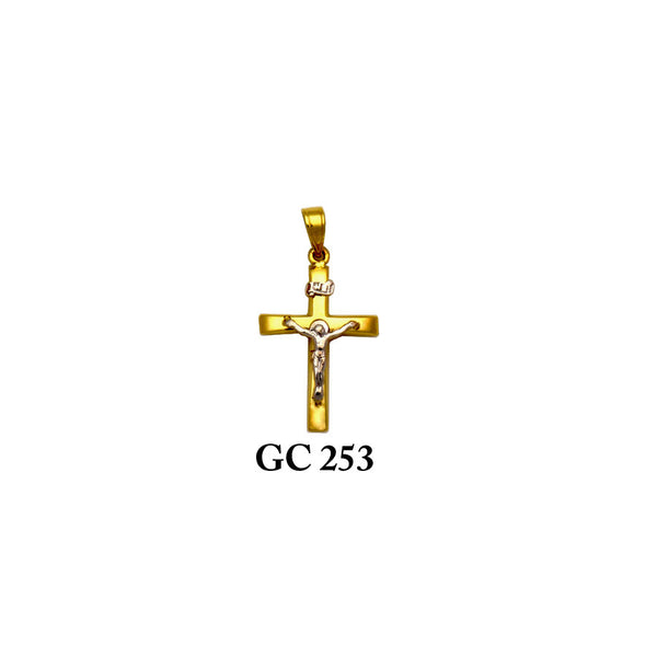 14K gold 2-piece crucifix cross pendant