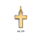 14K Yellow and White gold cross pendant with beautiful finish