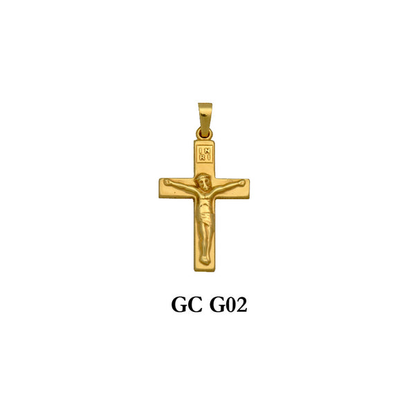 14K gold crucifix cross pendant